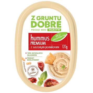 Z GRUNTU DOBRE Hummus Premium z suszonymi pomidorami 120g