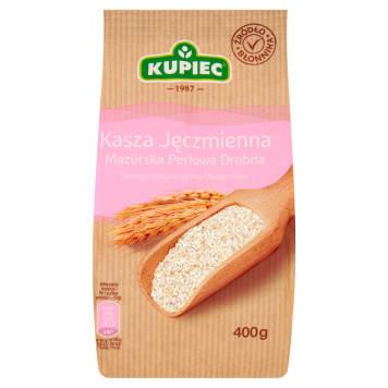 Kasza jęczmienna mazurska perłowa drobna folia - Kupiec. Zdrowie i tradycyjny smak.