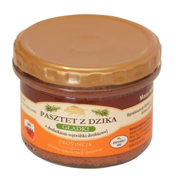 PROVINCJA Wild boar pate with the addition of chicken livers 180g