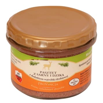 PROVINCJA Venison and wild boar pate with the addition of chicken livers 180 g