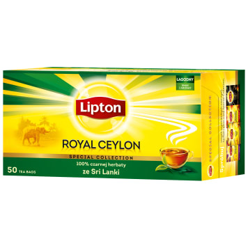 LIPTON ROYAL CEYLON Black tea 50 bags 100g