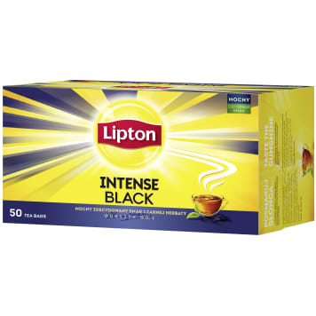 LIPTON INTENSE BLACK Black tea 50 bags 115 g
