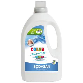 Płyn do prania Color - Sensitiv Detergent - Sodasan. Skutecznie usuwa plamy i chroni kolory tkanin.