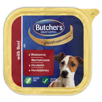 BUTCHER'S Gastronomia Food for adult dogs with beef 150g
