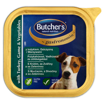 BUTCHER'S Gastronomia Dog food with fresh turkey, venison and vegetables 150g