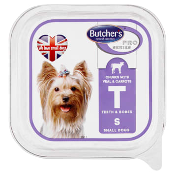BUTCHER'S PRO SERIES Dog food for adult meat pieces in a sauce with veal and carrots 150g