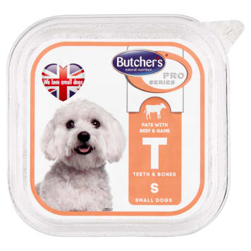 BUTCHER'S PRO SERIES Adult dog food pate with beef and game 150g
