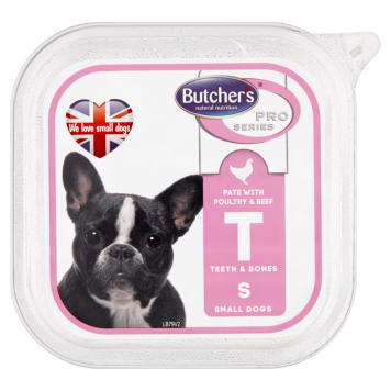 BUTCHER'S PRO SERIES Dog food for adults - pate with beef and beef 150g