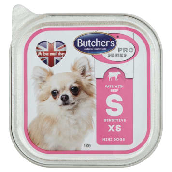 BUTCHER'S PRO SERIES Dog food for adult dogs with beef and rice 100g