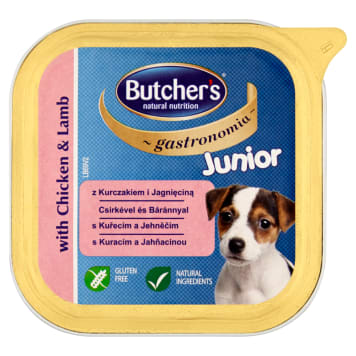 BUTCHER'S Gastronomia Dog food for juniors with chicken and lamb 150g