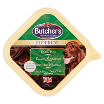 BUTCHER'S SUPERIOR Dog food for adult dogs with duck peas and carrots 150 g