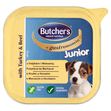 BUTCHER'S Gastronomia Dog food for juniors with turkey and beef 150 g