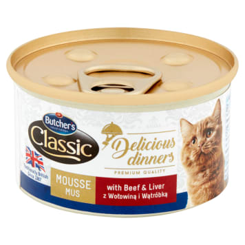 BUTCHER'S Classic Cat food for adult mums with beef and liver 85 g