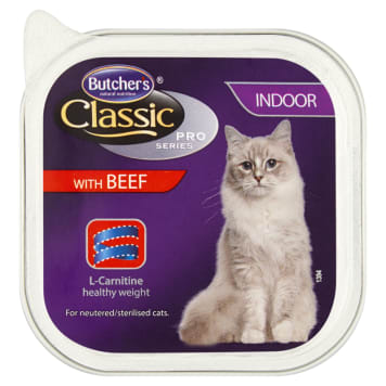 BUTCHER'S Classic Pro Series Adult cat food pate with beef 100g