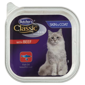 BUTCHER'S Classic Pro Series Adult cat food pate with beef 100 g