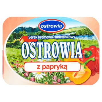 Serek kremowo-śmietankowy z papryką 120g OSTROWIA. Doskonały smak kanapek.