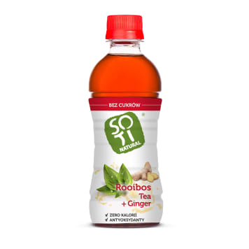 SOTI NATURAL Steamed red tea and ginger unsweetened 340 ml