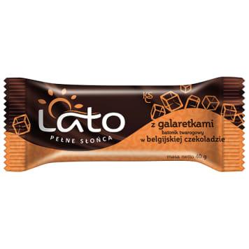 LATO PEŁNE SŁOŃCA Baton twarogowy Belgijska czekolada z galaretką 40g