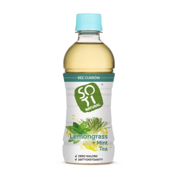 SOTI NATURAL Steamed mint tea and unsweetened citrus grass BIO 340ml