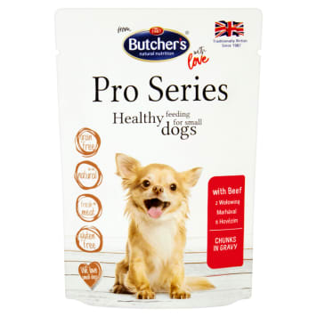 BUTCHER'S PRO SERIES Dog food for adults cuts in beef sauce 100 g