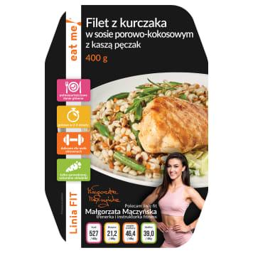 EAT ME! Filet z kurczaka w sosie porowo-kokosowym z kaszą pęczak 400g