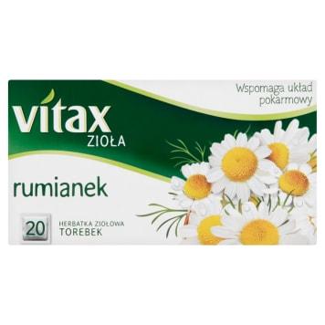 Zioła Rumianek – Vitax to popularna herbatka o wielu właściwościach i zastosowaniach.