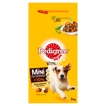 PEDIGREE Pokarm Suchy Complete for Mature Small Breeds of Chicken / Vegetables 2 kg
