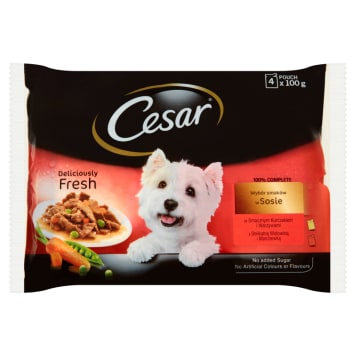 CESAR Food for Dogs - Choosing Flavors in Sauce (4 sachets) 400g