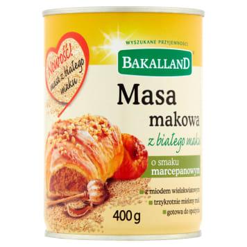 BAKALLAND Masa makowa z białego maku o smaku marcepanowym 400g