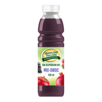 SŁONECZNA TŁOCZNIA Juice of apples, pears, currants, grapes, blueberries and pomegr 500 ml