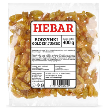 HEBAR Raisins Golden Jumbo 400 g