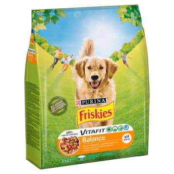Karma dla psów z kurczakiem i warzywami - Friskies to źródło witamin i składników odżywczych.