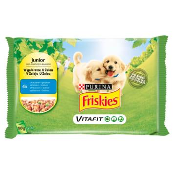 FRISKIES Vitafit Junior Karma dla szczeniaków kurczak i groszek w galaretce 4x100g 400g