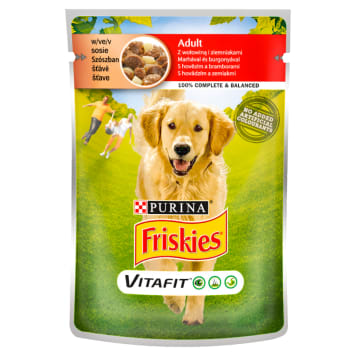 FRISKIES Vitafit Adult Dog food with beef and potatoes in a sauce 100g