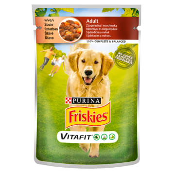 FRISKIES Vitafit Adult Dog food with lamb and carrot in sauce 100g