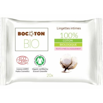 BOCOTON Wipes for intimate hygiene 20 pcs. BIO 1pc