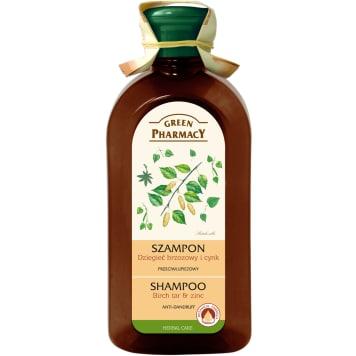 Szampon do włosów - Green Pharmacy. Przeciwłupieżowy szampon z cynkiem i dziegieciem brzozowym.