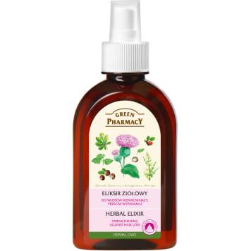 Eliksir przeciw wypadaniu włosów – Green Pharmacy naturalnie wzmacnia i odbudowuje strukturę włosa.