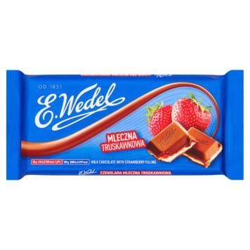 Wedel Czekolada mleczna truskawkowa to niezrównany deser firmy z tradycjami.