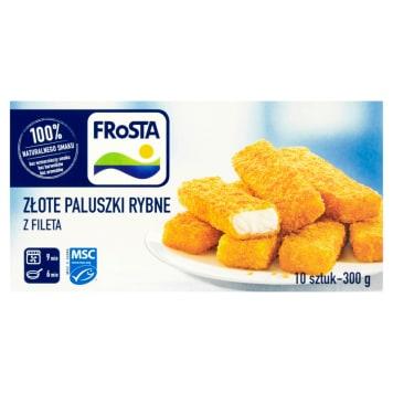 Paluszki rybne mrożone - Frosta zawierają 100% mięsa z fileta rybnego.