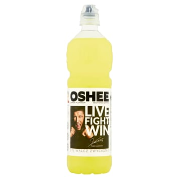 Oshee- Napój izotoniczny o smaku cytrynowym. Gasi pragnienie i uzupełania zapas energii.