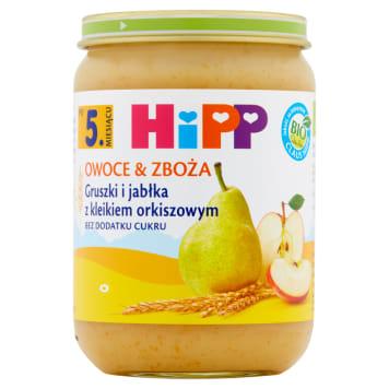 Kleik owocowy Hipp reguluje pracę układu pokarmowego najmłodszch dzieci i pysznie smakuje.