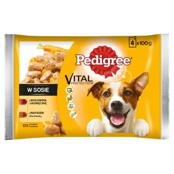 PEDIGREE Adult Food for Dogs - Wołowina / Lamb and Turkey / Carrots (4 pcs) 400g