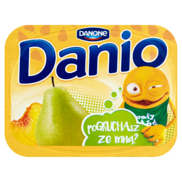 DANONE DANIO Pear-peach homogenised cheese 135g