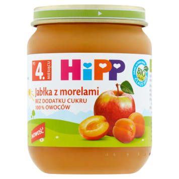 HIPP BIO Apricot apples with apricots after the 4th month 125g