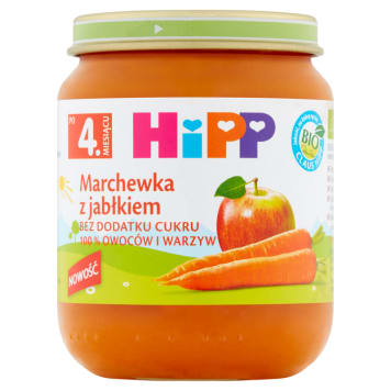 HIPP BIO Carrot with apple after the 4th month 125g