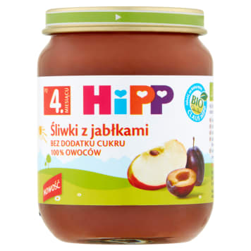 HIPP BIO Śliwki z jabłkami po 4 miesiącu 125g