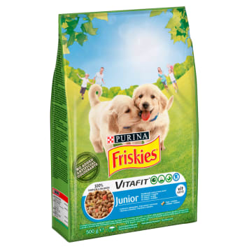 FRISKIES Junior Dry Dog Food with Chicken and Vegetables 500 g