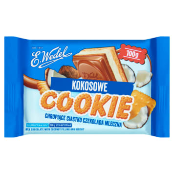 WEDEL Cookie Milk chocolate with coconut filling and biscuit 100g