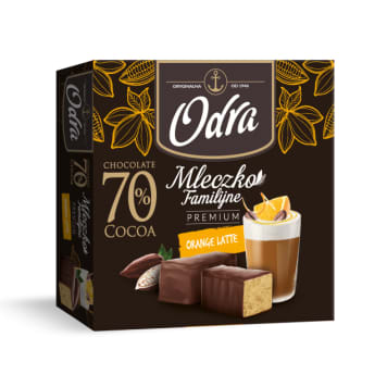 ODRA Familijne Mleczko Premium o smaku Orange Latte 320g